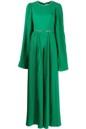 Semsem X Ramadan crystal-embellished pleated jumpsuit