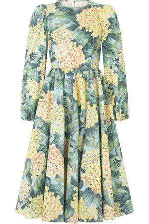Dolce & Gabbana Women Printed Dresses - Floral print midi dress