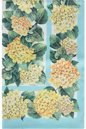 Dolce & Gabbana Hydrangea floral-print scarf