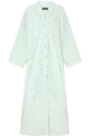 Dolce & Gabbana Floral-lace buttoned maxi dress