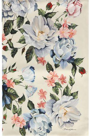 Dolce & Gabbana Women Scarves - Floral-print rectangular scarf - Neutrals