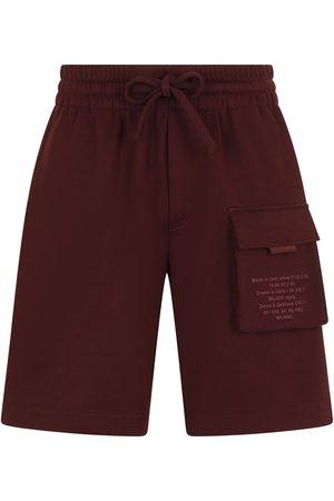Dolce & Gabbana Men Shorts - Logo pocket drawstring shorts