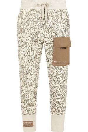 Dolce & Gabbana Men Sweatpants - Flap pocket logo print track pants