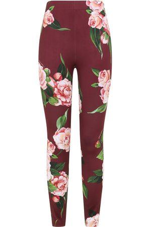 Dolce & Gabbana Women Leggings - Floral print leggings