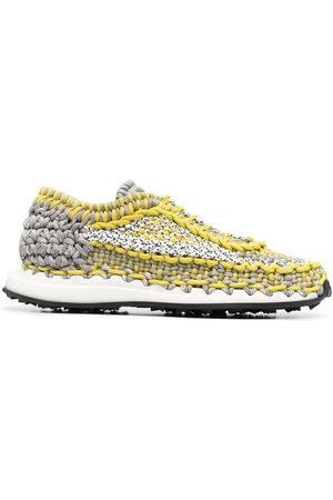 VALENTINO GARAVANI Crochet low-top sneakers - Grey