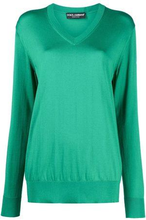 Dolce & Gabbana Women Sweaters - V-neck fine knit jumper