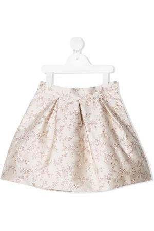 LA STUPENDERIA Luce floral-print miniskirt - Neutrals