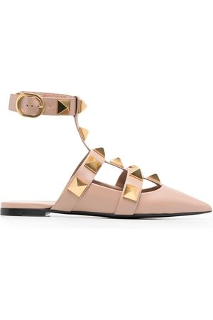 VALENTINO GARAVANI Roman Stud ballerina shoes - Neutrals