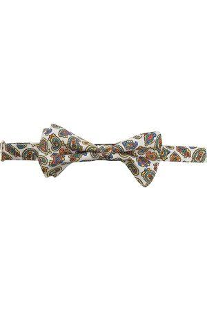 Etro Men Bow Ties - Paisley-print silk bow tie - Neutrals