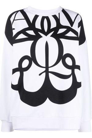 Alexander McQueen Women Sweatshirts - Exploded Seal logo-print sweatshirt