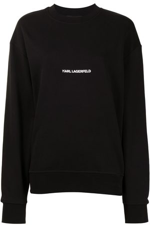 Karl Lagerfeld Women Sweatshirts - Logo-print organic-cotton sweatshirt