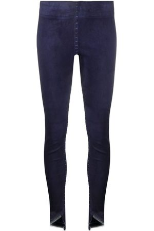 ISAAC SELLAM EXPERIENCE Women Leather Pants - Slim-fit leather trousers