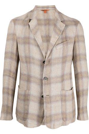 BARENA Men Blazers - Check-pattern blazer - Neutrals