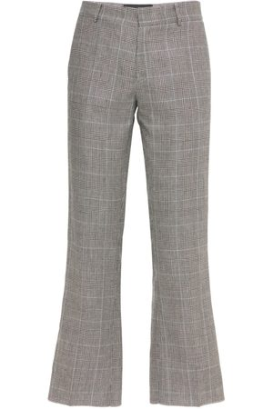 COOL Men Pants - Skater Wool & Linen Check Cropped Pants