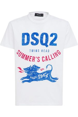 Dsquared2 Dsq2 Logo Print Cotton Jersey T-shirt