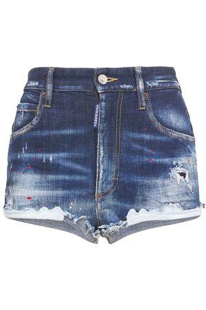 Dsquared2 High Waist Stretch Hot Pants