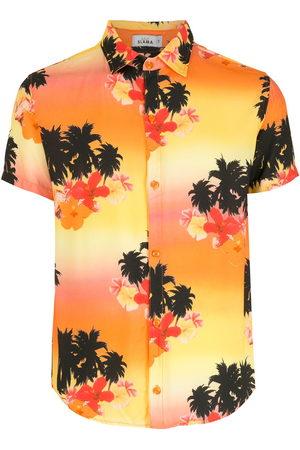 AMIR SLAMA Tropical print short-sleeve shirt - Multicolour
