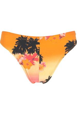 Amir Slama Ilha de Hibiscus high-leg swimming trunks - Multicolour