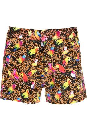 AMIR SLAMA Print Papagaios shorts - Multicolour