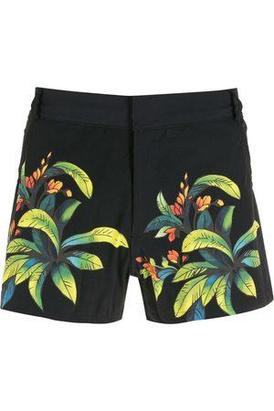 AMIR SLAMA Print Folhas shorts