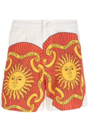 AMIR SLAMA Men Bermudas - Print Sol shorts