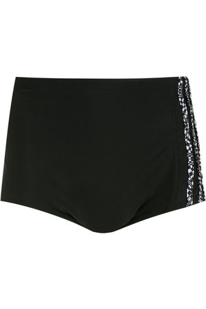 AMIR SLAMA Side stripe-detail swim shorts