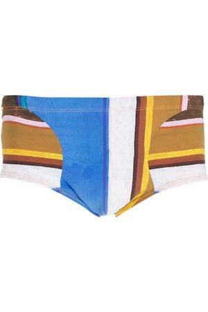 AMIR SLAMA Eco striped swimming trunks - Multicolour