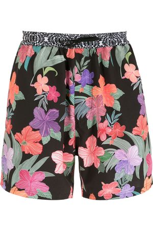 AMIR SLAMA Men Swim Shorts - Print Hibiscus shorts - Multicolour