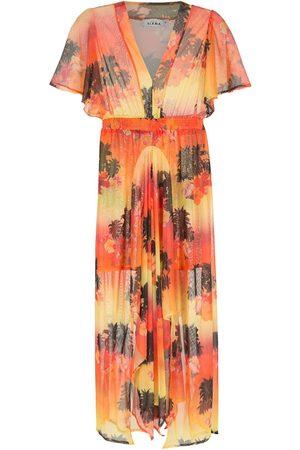 AMIR SLAMA Half-sleeves long dress