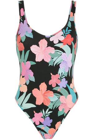 AMIR SLAMA Print Hibiscus swimsuit