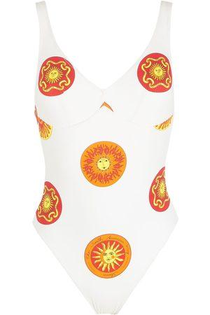 AMIR SLAMA Print Sol swimsuit
