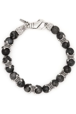 EMANUELE BICOCCHI Men Bracelets - Beaded chain bracelet - Grey