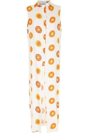 AMIR SLAMA Print Sol long beach dress