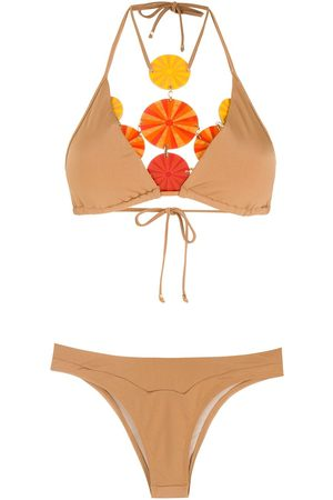 AMIR SLAMA Women Bikinis - High-leg bikini set - Neutrals