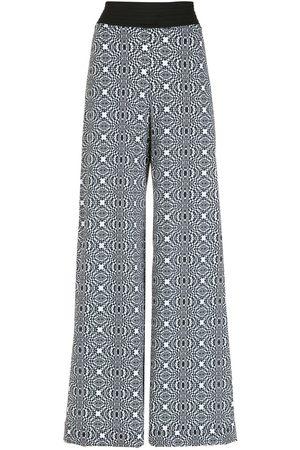 AMIR SLAMA Printed wide-leg trousers
