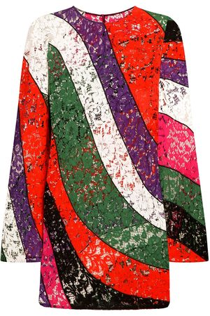Dolce & Gabbana Panelled floral lace minidress