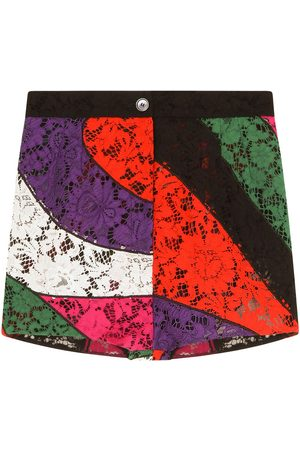 Dolce & Gabbana Panelled floral lace shorts