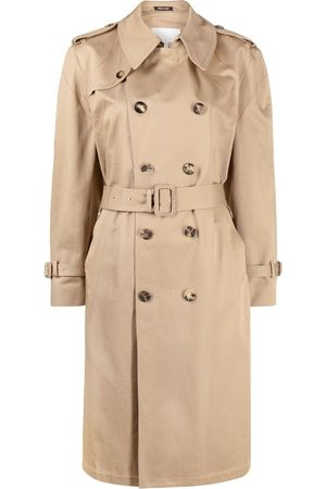 Maison Margiela Double-breasted belted trench coat - Neutrals