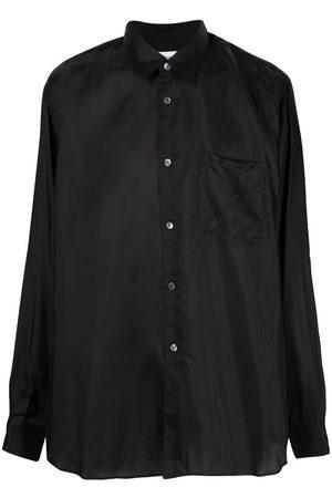 Comme des Garçons Silk-effect long-sleeved shirt