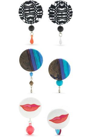 AMIR SLAMA Women Earrings - 3 pair earring set - Multicolour