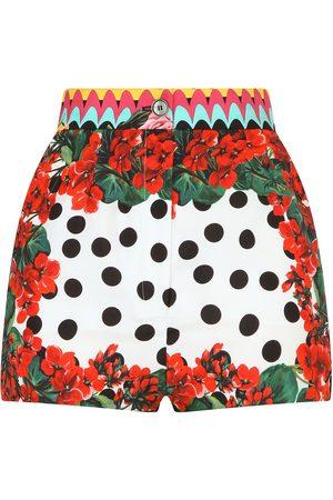 Dolce & Gabbana Mix-print silk shorts