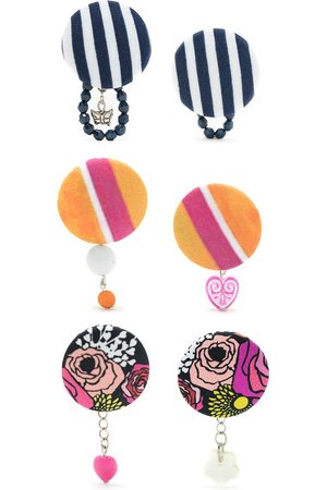 Amir Slama 3 pair earring set - Multicolour