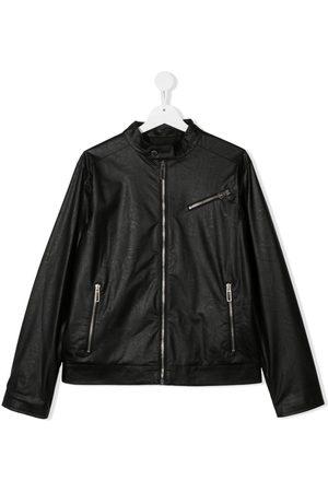 Paolo Pecora Bomber Jackets - Leather-effect bomber jacket