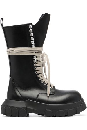 Rick Owens Lace-up leather boots