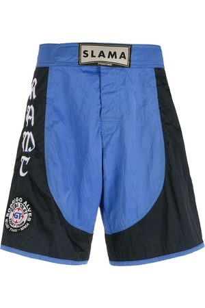 AMIR SLAMA Embroidered patches Luta shorts