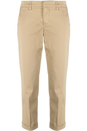 FAY Slim cropped trousers - Neutrals