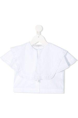 PHILOSOPHY DI LORENZO SERAFINI Girls Shirts - Ruffle-trimmed cotton shirt