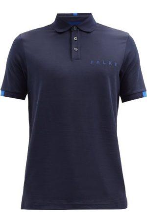 Falke Logo-print Cotton-blend Piqué Polo Shirt - Mens - Navy