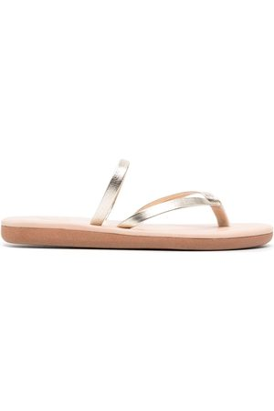 Ancient Greek Sandals Vachetta leather flip flops - Metallic