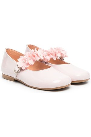 CLARYS Girls Ballerinas - Flower-applique ballerina shoes